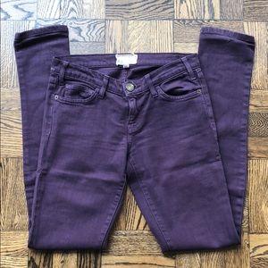 Current/Elliot deep purple stretch jeans